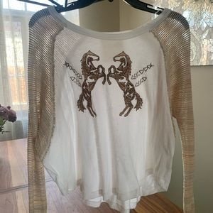 Free People (We the free) Horses top - Size Small